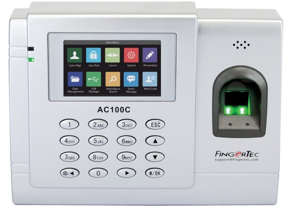 Fingertec AC100C Main Time Attendance | Bundy Clocks Brisbane | Time Attendance Gold Coast | BioAccSys Australia